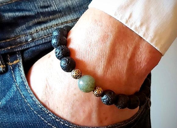 Männer Armband  Lava-Labradorit