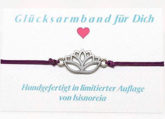Statement Armband Lotus violett