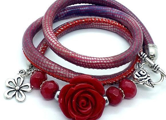 """""""Dark Rose"""" Wickelarmband"""