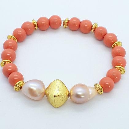 """""""Livia"""" Römisches Armband mit Süßwasserperlen"""