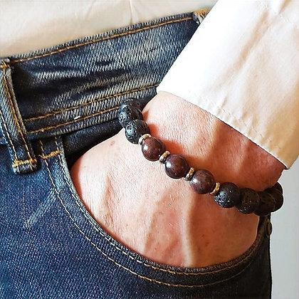 Männer Armband  Lava & Jaspis