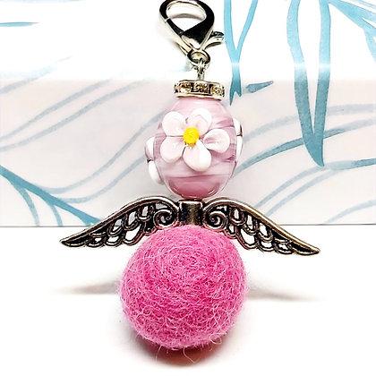 """""""Pinkflower"""" Schutzengel-Anhänger"""