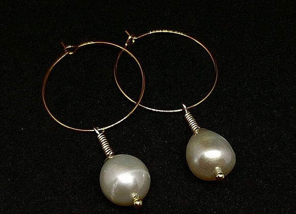 """""""Margaritha"""" römische Süßwasser Perlen Ohrringe"""