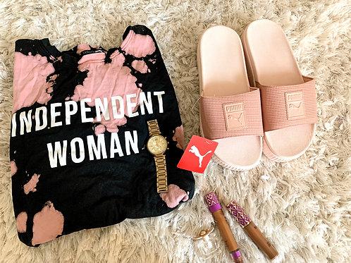 Pink Mini Platform Puma Sandal