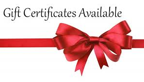 Gift Certificates - The Perfect Solution