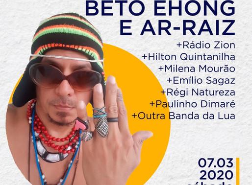 Festa da música com Beto Ehongue e Ar-Raiz, mais convidados especiais, no Casa d'Arte