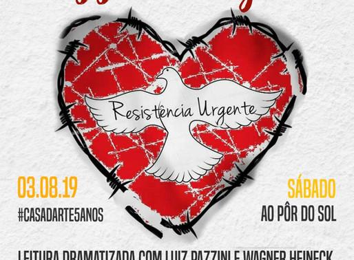 Resistência Urgente: artistas realizam leitura dramatizada neste sábado (03)