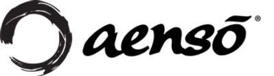The word Aensõ in black writing