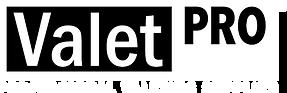 Black and white ValetPRO logo