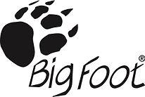 A black animal footprint with words BigFoot