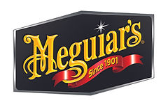 A Gold and red Meguire's logo with a black background, reading 'Meguiar's since 1901'