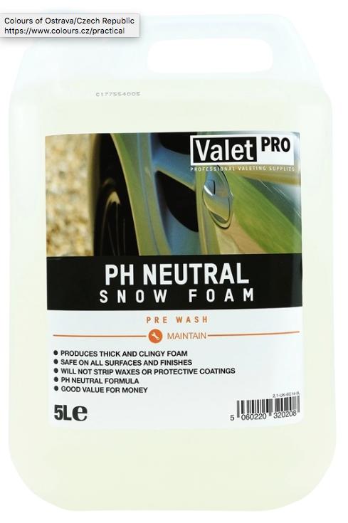 Valetpro PH Neutral Snow Foam 5 Litres