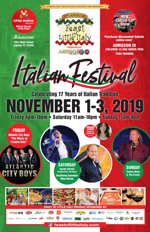 Feast of Little Italy Jupiter  | Celebrating 17 years of Italian food, music, art & tradition 🇮