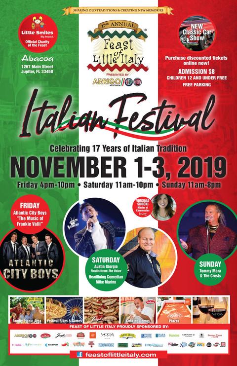 Feast of Little Italy Jupiter  | Celebrating 17 years of Italian food, music, art & tradition 🇮