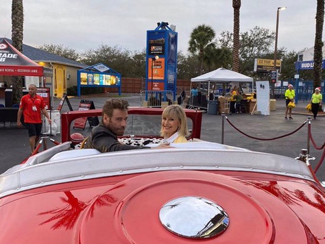 John Travolta & Olivia Newton John Revive 'Grease' for sing-along in West Palm Beach