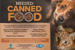 Canned Food Drive for Pets