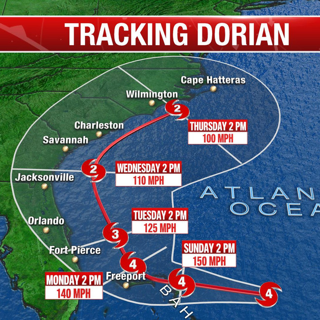 Dorian Path- 5PM- 083119