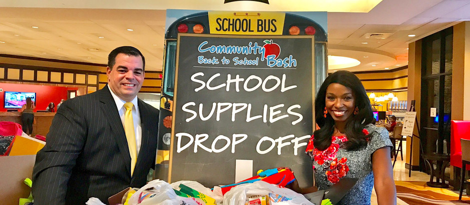 Honored to Host Vinnie Cuomo's Back to School Bash to help local students