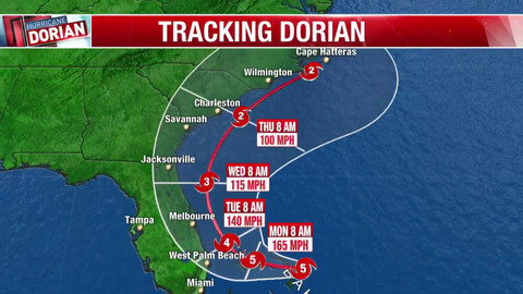 Tracking Hurricane Dorian: Cat 4 storm with 'catastrophic' conditions in Bahamas nears Flori
