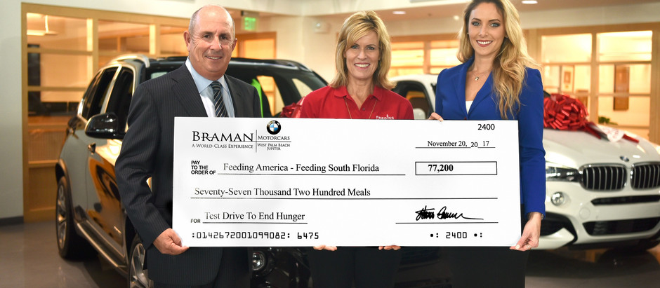 Braman Motorcars Holiday Season Hunger Campaign Gives 77,000 Meals And Toy Drive In Full Swing