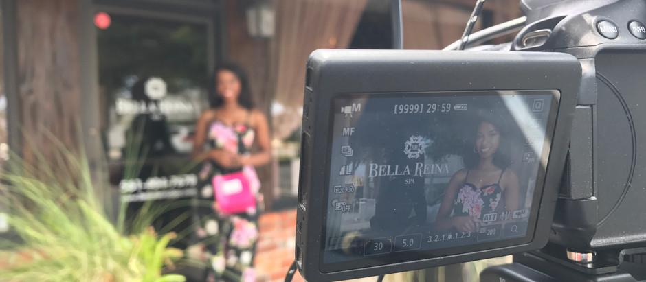 Behind The Scenes   Bella Reina Spa promo shoot