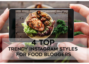4 Top Trendy Instagram Styles Template Pack - For Food Bloggers