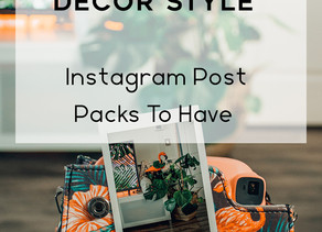 Top 5 Creative Interior Decor Style - Instagram Post Packs To Have