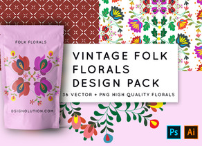Vintage Folk Floral Pattern -  My New Collection