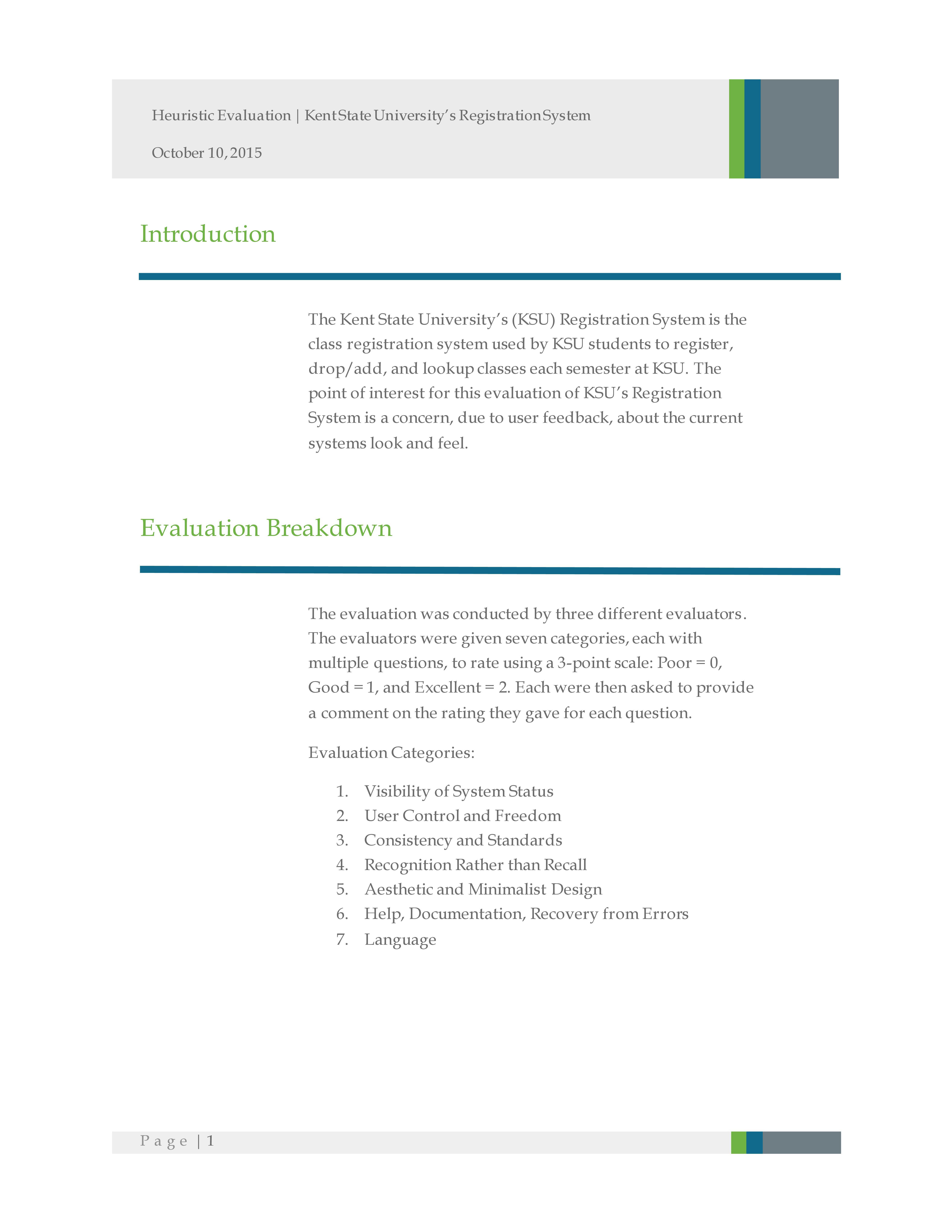 Redesign KSU Registration   portfolio