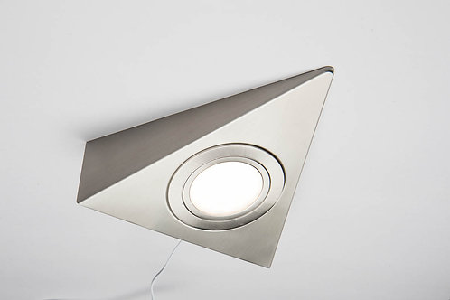 Triangulum 24V Triangle led Under Cabinet light Stainless Steel - Natural White