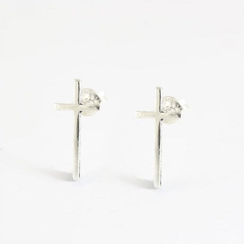 Large cross studs