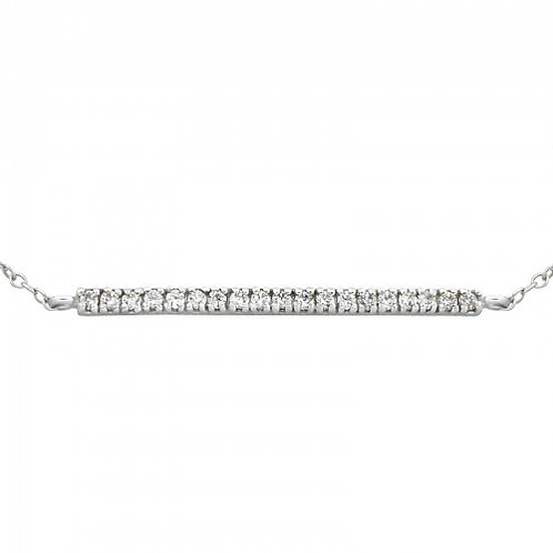 Silver CZ bar bracelet