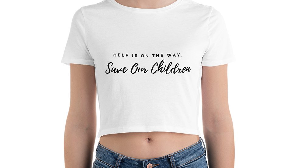 Help is On The Way Crop Top (Black Font)