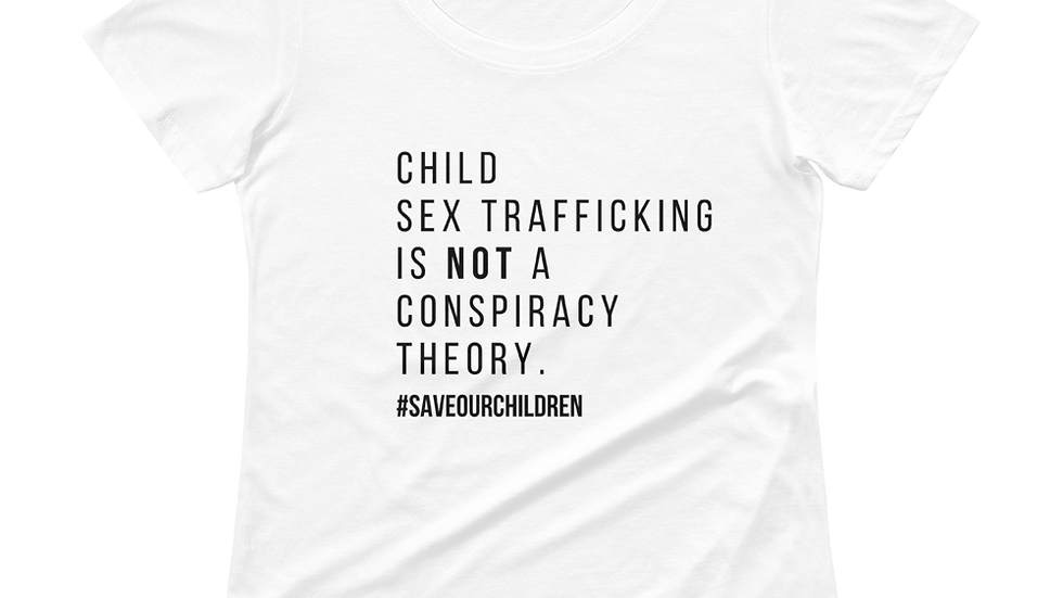 Not A Conspiracy Theory Plain Text Scoopneck Tee (Black Font)