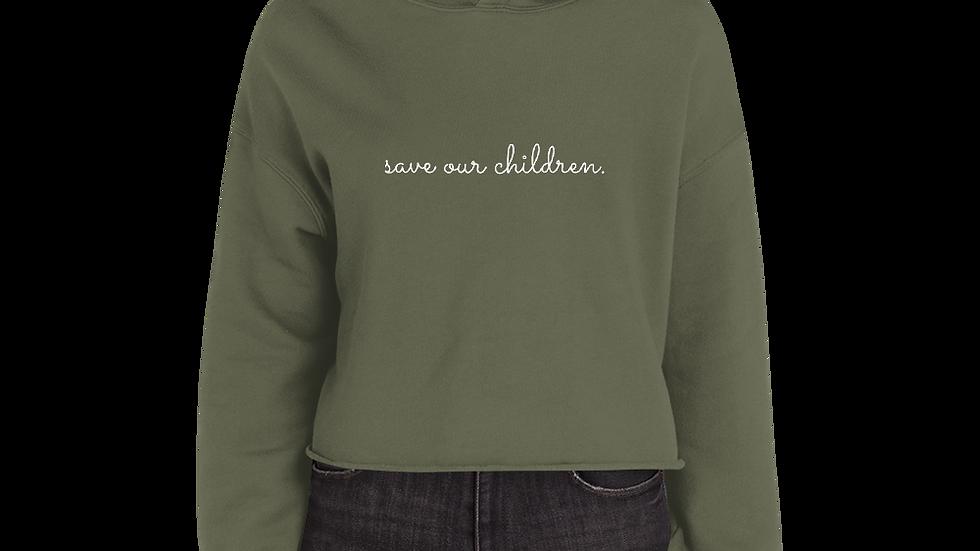 Save Our Children Crop Hoodie
