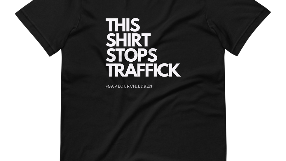 This Shirt Stops Traffick (White Font)