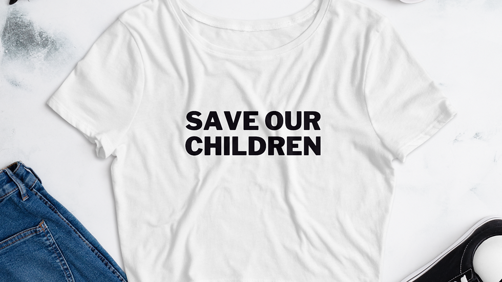 Save Our Children (Bold) Crop Top
