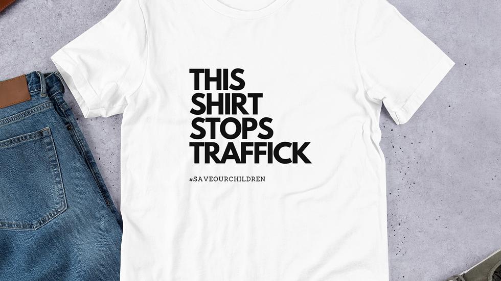 This Shirt Stops Traffick (Black Font)