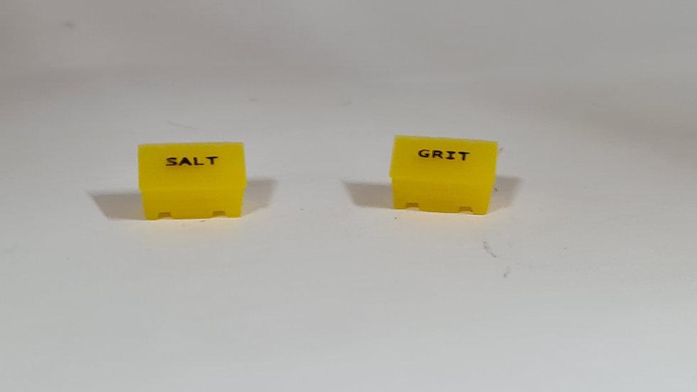N Gauge 1:148 Grit Bins - Fully Coloured with Black Lettering- Pack of 4