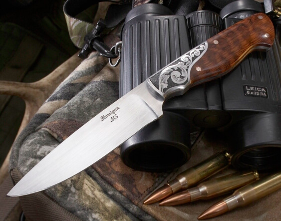 ENGRAVED DROP POINT HUNTER