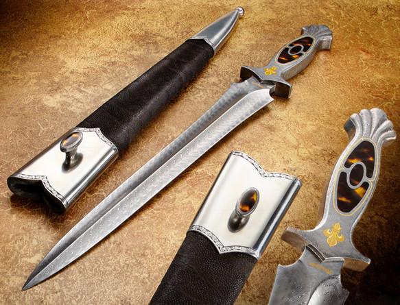 Turkish Damascus Steel Blade & Handle Dagger