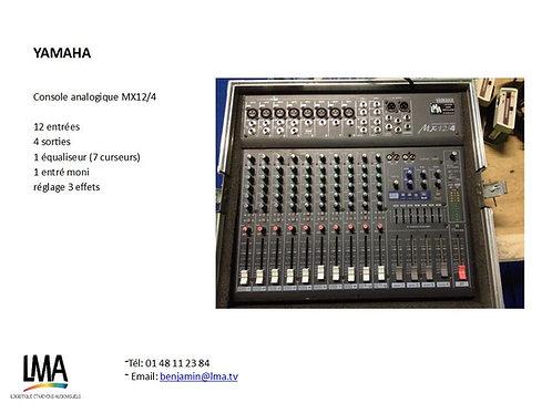 Console Yamaha MX12/4