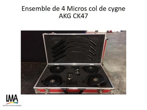 Ensemble de 4 micro Col de Cygne AKG CK47