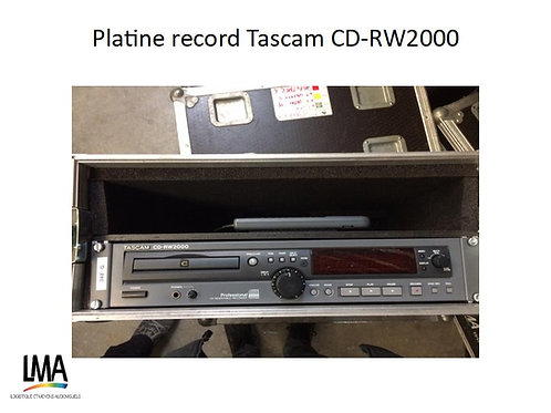 Platine record Tascam CD-RW2000