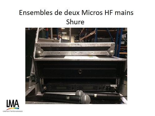 Ensemble micro HF main Shure