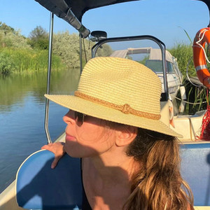 Turista in Delta Dunarii.