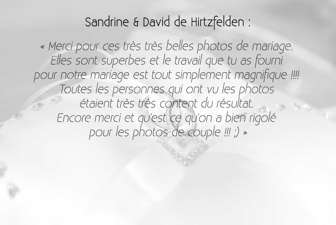 Sandrine & David