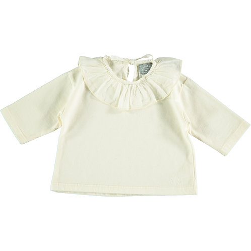 BABY T-SHIRT CON COLLETTO VOILE | TOCOTO VINTAGE