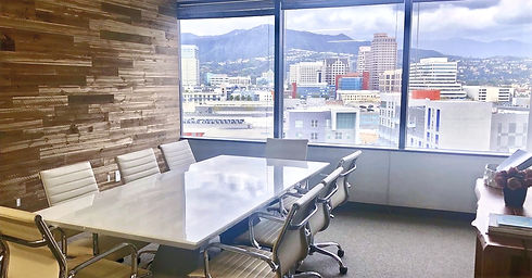 Tamar Arminak's Glendale office overlooking city
