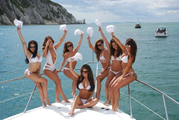 Playboy Vacation Yacht Party with girls.